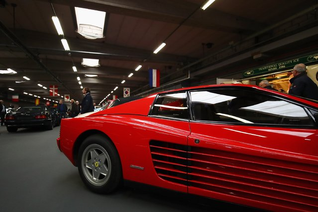 A general view of a Ferrari Testarossa at The 40th Antwerp Classic Salon run by SIHA Salons Automobiles and held at Antwerp EXPO Halls on March 3, 2017 in Antwerpen, Belgium. (Photo by Dean Mouhtaropoulos/Getty Images)