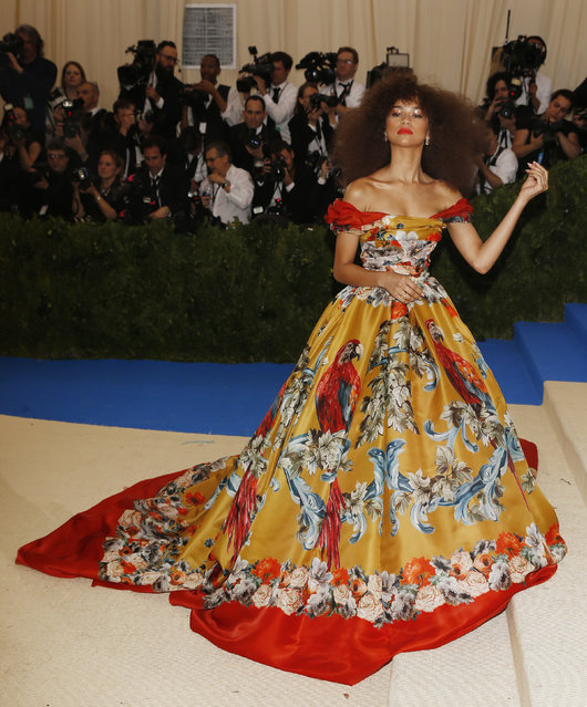 """Zendaya attends """"Rei Kawakubo/Comme des Garcons: Art Of The In-Between"""" Costume Institute Gala – Arrivals at Metropolitan Museum of Art on May 1, 2017 in New York City. (Photo by Carlo Allegri/Reuters)"""