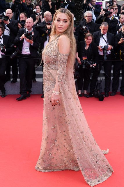 Rita Ora attends the 70th Anniversary screening during the 70th annual Cannes Film Festival at Palais des Festivals on May 23, 2017 in Cannes, France. (Photo by David Fisher/Rex Features/Shutterstock)