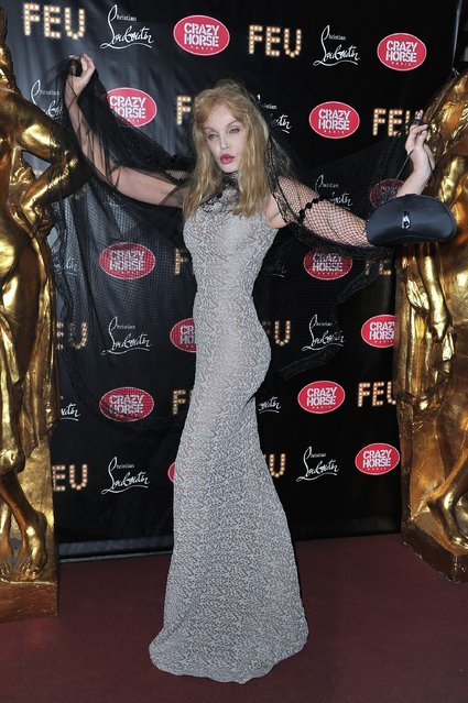 Arielle Dombasle attends 'Feu' Directed By Christian Louboutin VIP Premiere at Le Crazy Horse on March 12, 2012 in Paris, France