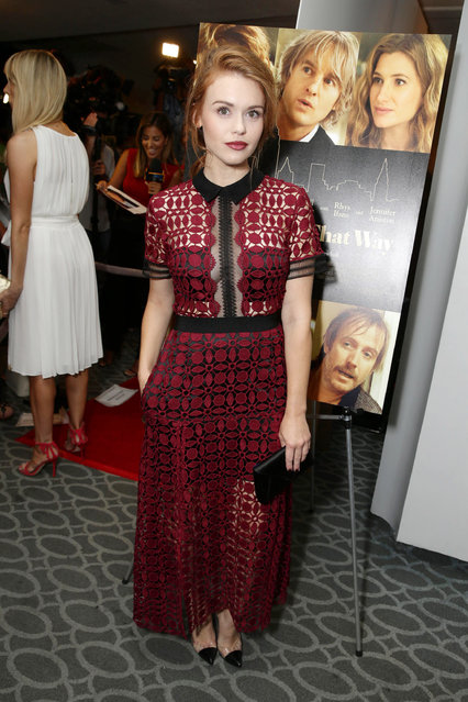 """Holland Roden seen at Los Angeles Premiere of Lionsgate Premiere """"She's Funny That Way"""" at Harmony Gold Theatre on Wednesday, August 19, 2015, in Los Angeles, CA. (Photo by Eric Charbonneau/Invision for Lionsgate Premiere/AP Images)"""