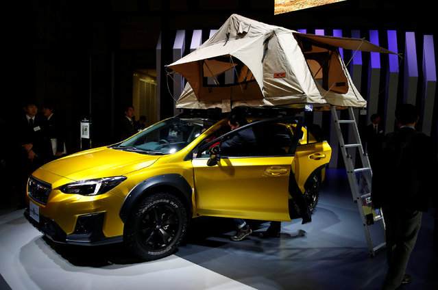 The Subaru XV Fun Adventure concept is displayed during a media preview of the 45th Tokyo Motor Show in Tokyo, Japan, Japan on October 25, 2017. (Photo by Toru Hanai/Reuters)