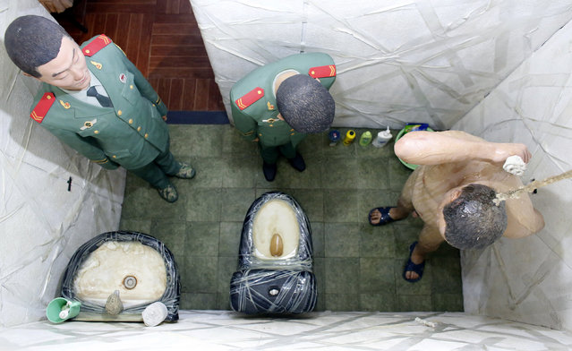 """A view of an installation as part of the """"S.A.C.R.E.D"""" exhibition by Chinese artist Ai Weiwei during the 55th La Biennale of Venice, in the church of Sant'Antonin in Venice May 28, 2013. (Photo by Stefano Rellandini/Reuters)"""