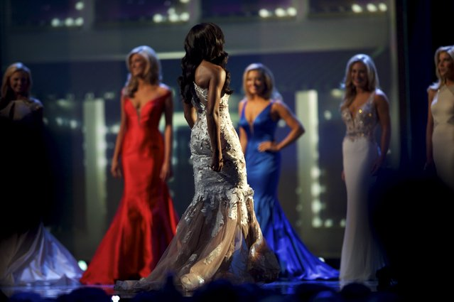 Miss South Carolina Daja Dial competes in the evening gown portion of the Miss America Pageant at Boardwalk Hall, in Atlantic City, New Jersey, September 13, 2015. (Photo by Mark Makela/Reuters)