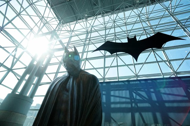 A view of atmosphere at the unveiling of the USPS Batman Forever stamp series at Jacob Javitz Center, October 9, 2014, in New York City. (Photo by Mike Coppola/Getty Images)