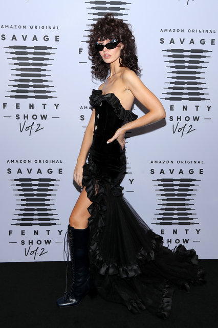 In this image released on October 1, Nadia Lee Cohen attends Rihanna's Savage X Fenty Show Vol. 2 presented by Amazon Prime Video at the Los Angeles Convention Center in Los Angeles, California; and broadcast on October 2, 2020. (Photo by Jerritt Clark/Getty Images for Savage X Fenty Show Vol. 2 Presented by Amazon Prime Video)