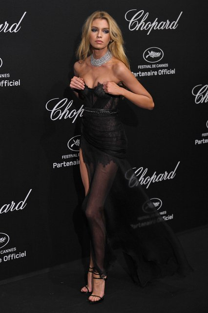 Stella Maxwell poses as she arrives on May 11, 2018 for the Secret Chopard Party on the sidelines of the 71 st Cannes film festival in Cannes, southeastern France. (Photo by James Gourley/Rex Features/Shutterstock)