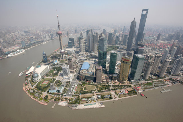 7: The Shanghai World Financial Center. Height: 1,614 ft. (Photo by Reuters/Shanghai Pacific Institute for International Strategy)