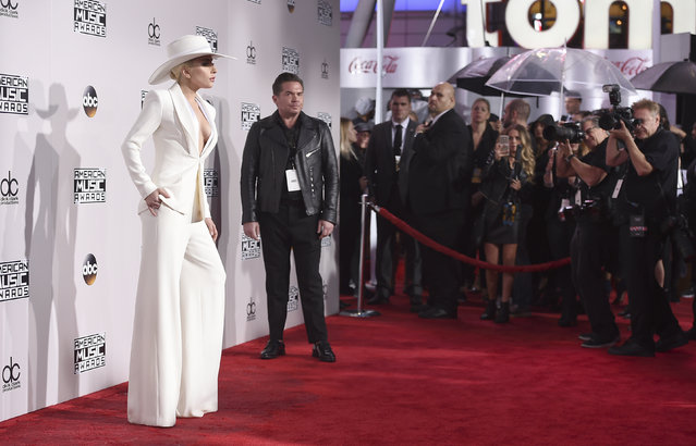 Lady Gaga arrives at the American Music Awards at the Microsoft Theater on Sunday, November 20, 2016, in Los Angeles. (Photo by Jordan Strauss/Invision/AP Photo)