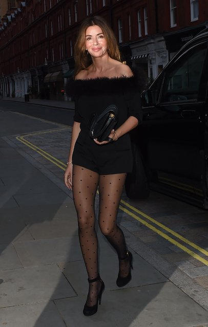 Noel Gallagher's wife Sara MacDonald, 49, seen on a night out at Chiltern Firehouse on May 20, 2021 in London, United Kingdom. Noel Gallagher is English singer-songwriter. (Photo by Splash News and Pictures)