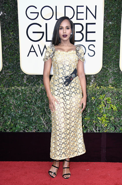 Actress Kerry Washington attends the 74th Annual Golden Globe Awards at The Beverly Hilton Hotel on January 8, 2017 in Beverly Hills, California. (Photo by Frazer Harrison/Getty Images)