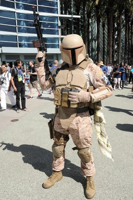 A Star Wars Fan attends the Star Wars Celebration: The Ultimate Fan Experience held at the Anaheim Convention Center on Thursday, April 16, 2015, in Anaheim, Calif. (Photo by Richard Shotwell/Invision/AP Photo)