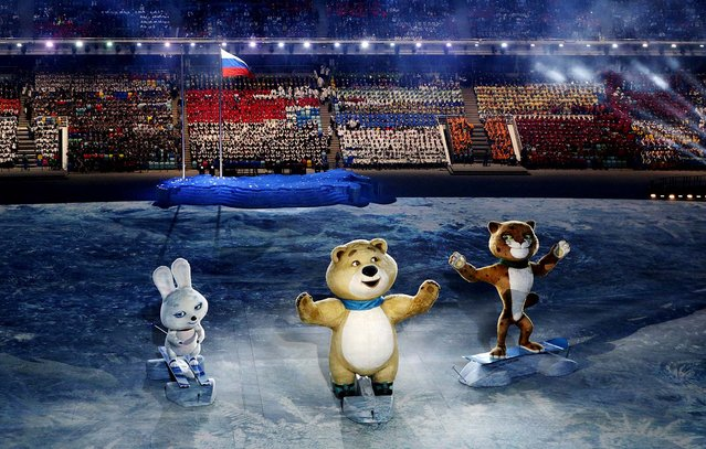Robotic mascots perform during the opening ceremony of the 2014 Winter Olympics in Sochi, Russia, Friday, February 7, 2014. (Photo by Robert F. Bukaty/Associated Press)