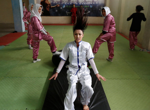 Sabera Bayanne, 20, a student of the Shaolin Wushu club, practices in Kabul, Afghanistan January 29, 2017. (Photo by Mohammad Ismail/Reuters)