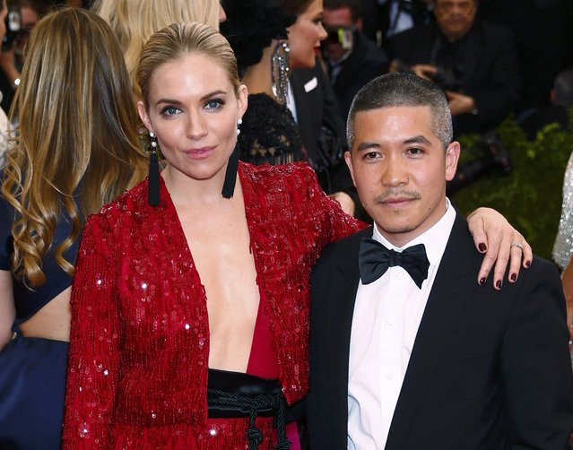 "Actress Sienna Miller and designer Thakoon Panichgul arrive at the Metropolitan Museum of Art Costume Institute Gala 2015 celebrating the opening of ""China: Through the Looking Glass"" in Manhattan, New York May 4, 2015. (Photo by Lucas Jackson/Reuters)"