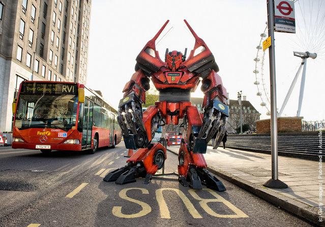 A Transformer Made From Original Bus Parts