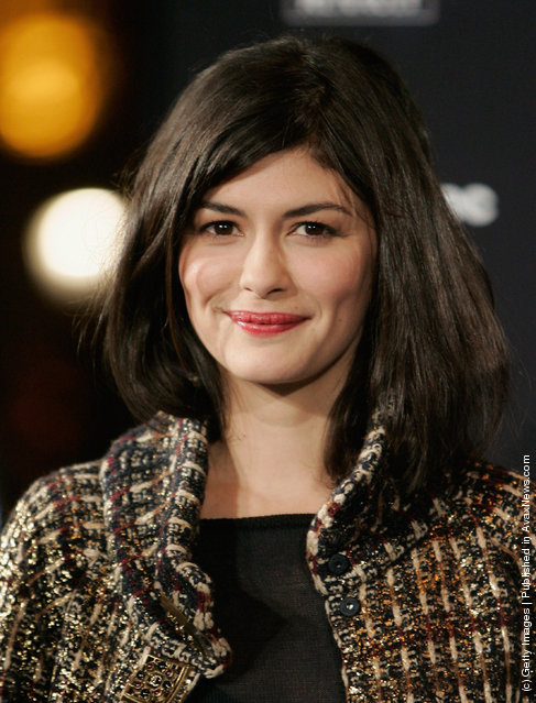 Actress Audrey Tautou attends the Christmas illuminations 2011 on Champs-Elysees on November 23, 2011 in Paris, France