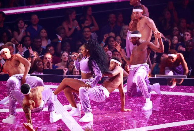 Normani performs at the MTV Video Music Awards at the Prudential Center on Monday, Aug. 26, 2019, in Newark, N.J. (Photo by Lucas Jackson/Reuters)