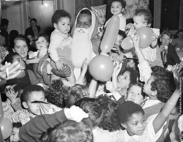 1951: W. MacDonald Bailey as Father Christmas at a children's party