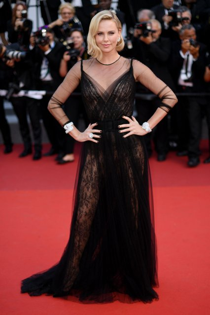 Actor Charlize Theron attends the 70th Anniversary of the 70th annual Cannes Film Festival at Palais des Festivals on May 23, 2017 in Cannes, France. (Photo by James Gourley/Rex Features/Shutterstock)