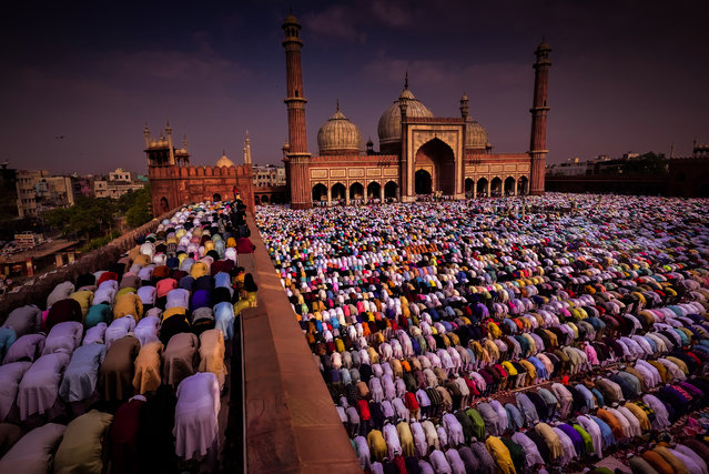 Shortlisted: Jama Masjid, Delhi, India by Debdatta Chakraborty. (Photo by Debdatta Chakraborty/Historic Photographer of the Year Awards 2019/The Guardian)