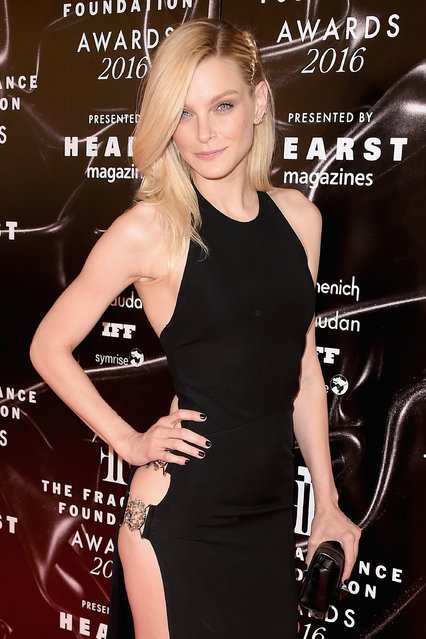 Model Jessica Stam attends the 2016 Fragrance Foundation Awards presented by Hearst Magazines on June 7, 2016 in New York City. (Photo by Nicholas Hunt/Getty Images Fragrance Foundation)