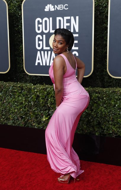 Tiffany Haddish arrives for the 77th annual Golden Globe Awards on January 5, 2020, at The Beverly Hilton hotel in Beverly Hills, California. (Photo by Mario Anzuoni/Reuters)