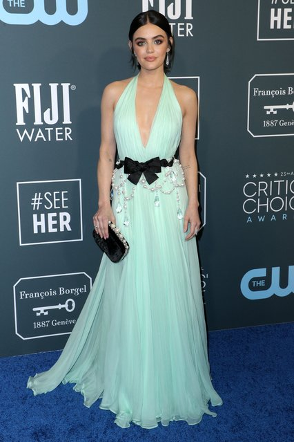 Former Pretty Little Liars star Lucy Hale arrives at the 25th Annual Critics' Choice Awards at Barker Hangar on January 12, 2020 in Santa Monica, California. (Photo by John Salangsang/Rex Features/Shutterstock)