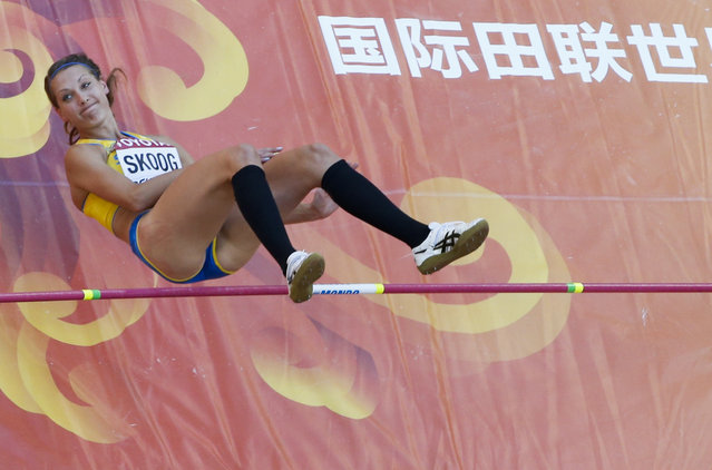 Sofie Skoog of Sweden competes in the high jump qualification event at the 15th IAAF World Championships at the National Stadium in Beijing, China, August 27, 2015. (Photo by Kim Kyung-Hoon/Reuters)