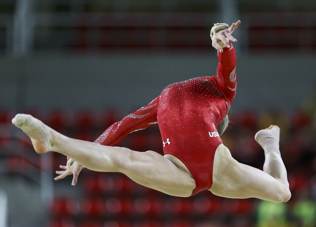 2016 Rio Olympics, Gymnastics training, Rio Olympic Arena, Rio de Janeiro, Brazil on August 4, 2016. Madison Kocian (USA) of USA trains. (Photo by Damir Sagolj/Reuters)