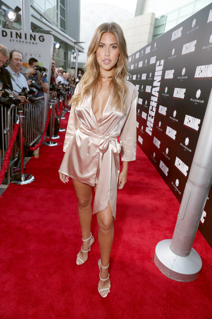 """Kara Del Toro seen at Los Angeles Premiere of """"Mechanic: Resurrection"""" from Lionsgate's Summit Premiere Label at ArcLight Hollywood on Monday, Aug. 22, 2016, in Los Angeles. (Photo by Eric Charbonneau/Invision for Lionsgate/AP Images)"""