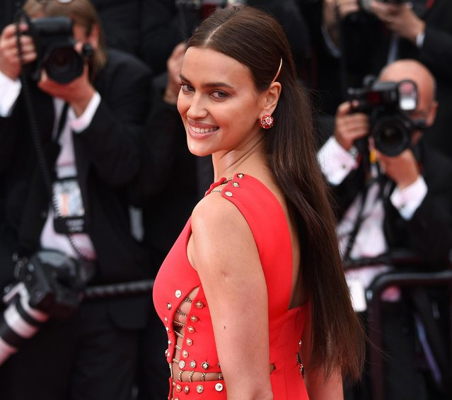 """Model Irina Shayk attends the screening of """"Sorry Angel (Plaire, Aimer Et Courir Vite)"""" during the 71st annual Cannes Film Festival at Palais des Festivals on May 10, 2018 in Cannes, France. (Photo by Nicholas Hunt/Getty Images)"""