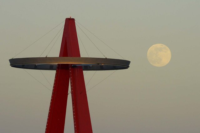 """The Los Angeles Angels' """"Big A"""" sign in Anaheim, on Saturday. (Photo by Mark J. Terrill/Associated Press)"""