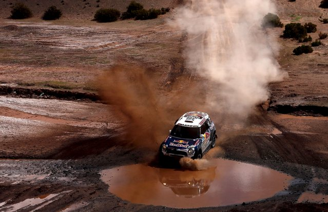 Nasser Al-Attiyah of Qatar drives his Mini  during the seventh stage in the Dakar Rally 2016 near Uyuni, Bolivia, January 9, 2016. (Photo by Marcos Brindicci/Reuters)