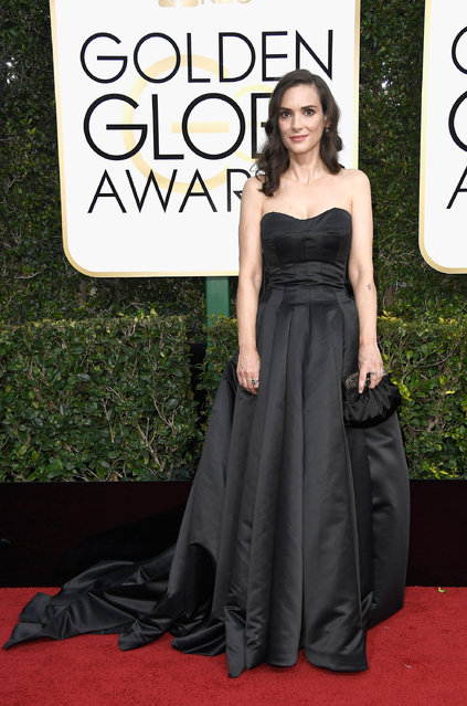 Actress Winona Ryder attends the 74th Annual Golden Globe Awards at The Beverly Hilton Hotel on January 8, 2017 in Beverly Hills, California. (Photo by Frazer Harrison/Getty Images)