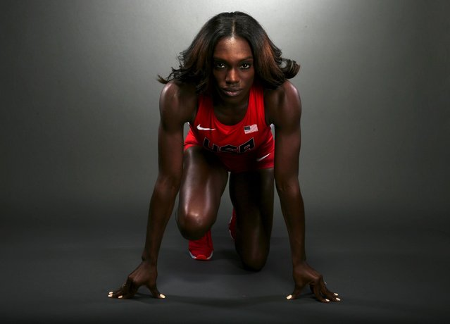 "Hurdler Dawn Harper-Nelson poses for a portrait at the U.S. Olympic Committee Media Summit in Beverly Hills, Los Angeles, California March 7, 2016. Harper-Nelson said ""God in Me"" by Mary Mary is a song that plays constantly in her head. ""I just tell myself: work the plan, work the plan until the bitter, bitter end"", said Harper-Nelson of how she gets through tough days of training. (Photo by Lucy Nicholson/Reuters)"