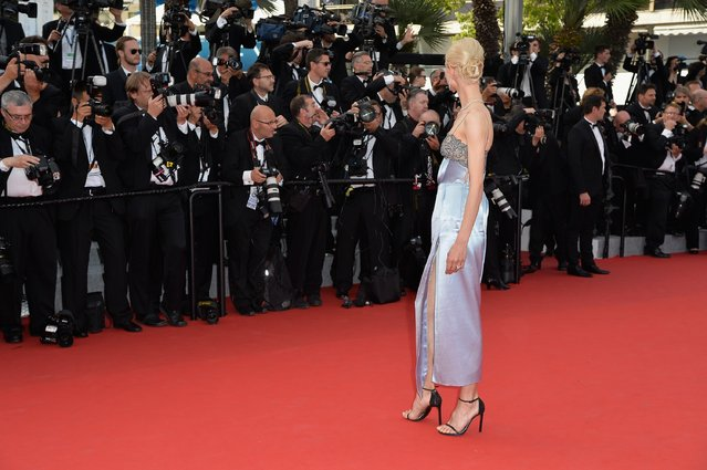 """Aymeline Valade attends the opening ceremony and premiere of """"La Tete Haute"""" (Standing Tall) during the 68th annual Cannes Film Festival on May 13, 2015 in Cannes, France. (Photo by Pascal Le Segretain/Getty Images)"""