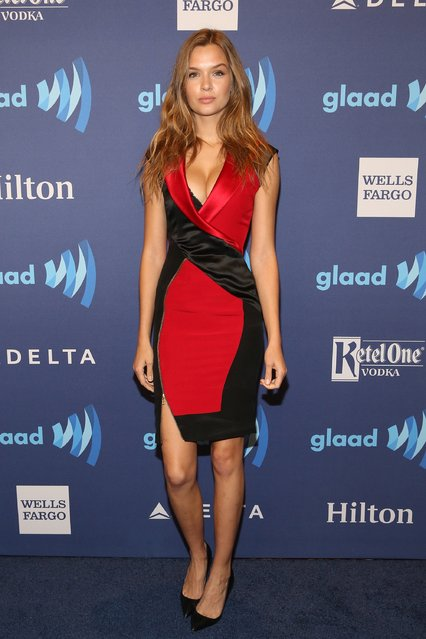 Model Josephine Skriver attends the 26th Annual GLAAD Media Awards at The Waldorf Astoria on May 9, 2015 in New York City. (Photo by Robin Marchant/Getty Images)