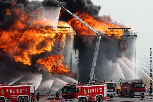 Fire Fighting Drill Held In Changchun