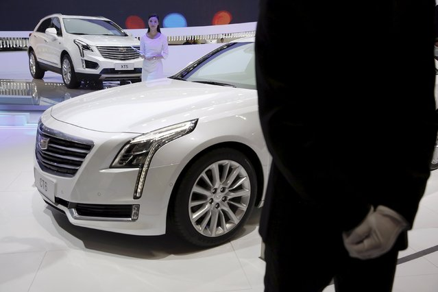 The Cadillac XT5 and CT6 are presented during the Auto China 2016 auto show in Beijing April 25, 2016. (Photo by Damir Sagolj/Reuters)