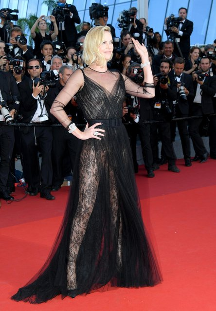 Charlize Theron attends the 70th Anniversary screening during the 70th annual Cannes Film Festival at Palais des Festivals on May 23, 2017 in Cannes, France. (Photo by Dominique Charriau/WireImage)