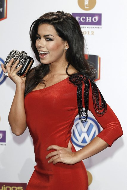 Fernanda Brandao arrives for the Echo Awards 2012 at Palais am Funkturm on March 22, 2012 in Berlin, Germany