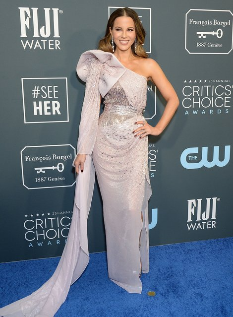 Kate Beckinsale attends the 25th annual Critics' Choice Awards at Barker Hangar on January 12, 2020 in Santa Monica, California. (Photo by Broadimage/Rex Features/Shutterstock)