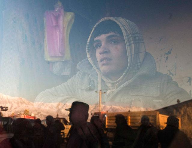 An Afghan boy
