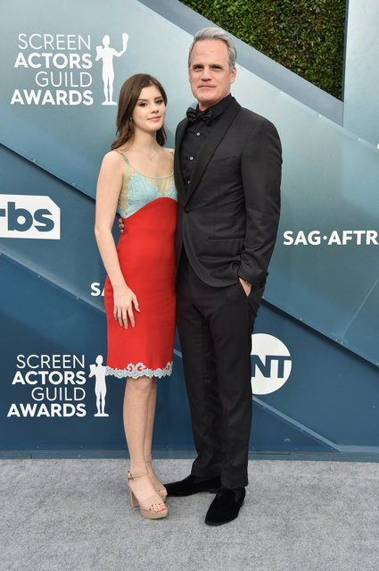 (L-R) Kathleen Rose Park and Michael Park attends the 26th Annual Screen ActorsGuild Awards at The Shrine Auditorium on January 19, 2020 in Los Angeles, California. (Photo by Gregg DeGuire/Getty Images for Turner)