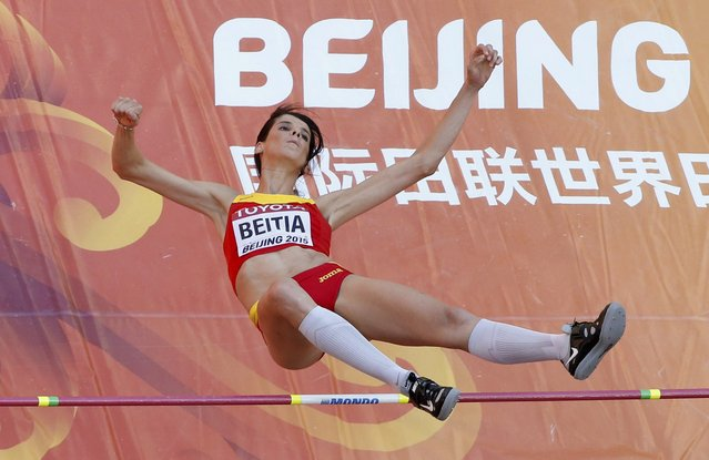Ruth Beitia of Spain competes in the high jump qualification event at the 15th IAAF World Championships at the National Stadium in Beijing, China, August 27, 2015. (Photo by Kim Kyung-Hoon/Reuters)