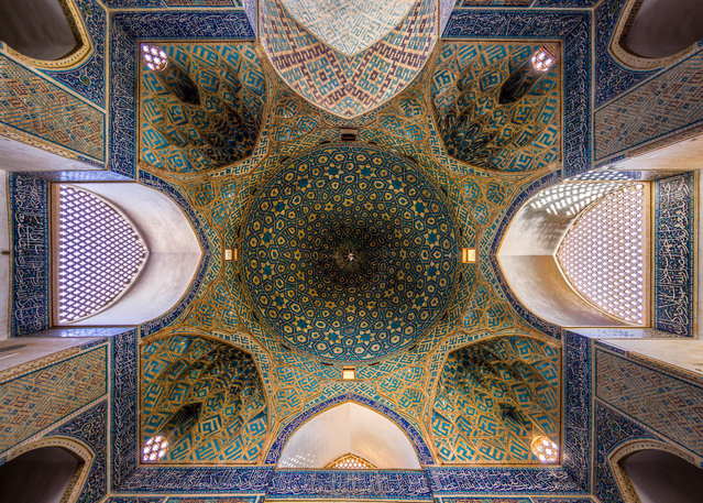 The biggest historical Jameh Mosque – the largest in Yazd, Iran. (Photo by Mohammad Reza Domiri Ganj)