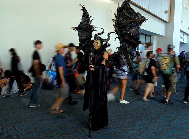 Linda Nguyen comes dressed as the Disney character Maleficent poses as she attends the pop culture event Comic-Con International in San Diego, California, United States July 22, 2016. (Photo by Mike Blake/Reuters)