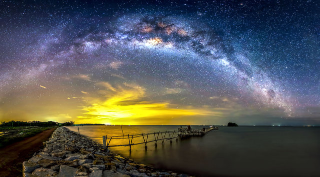 Some of steves other night sky photography- Batu Pahat – Malaysia. (Photo by Steve Lance Lee/Caters News)