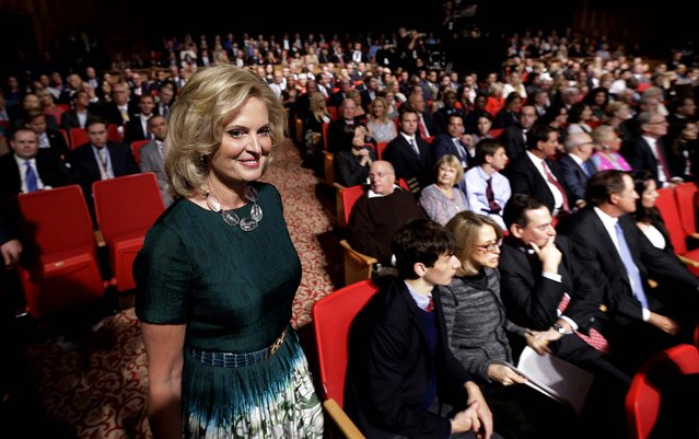 Ann Romney arrives for the debate. (Photo by Eric Gay/Associated Press)